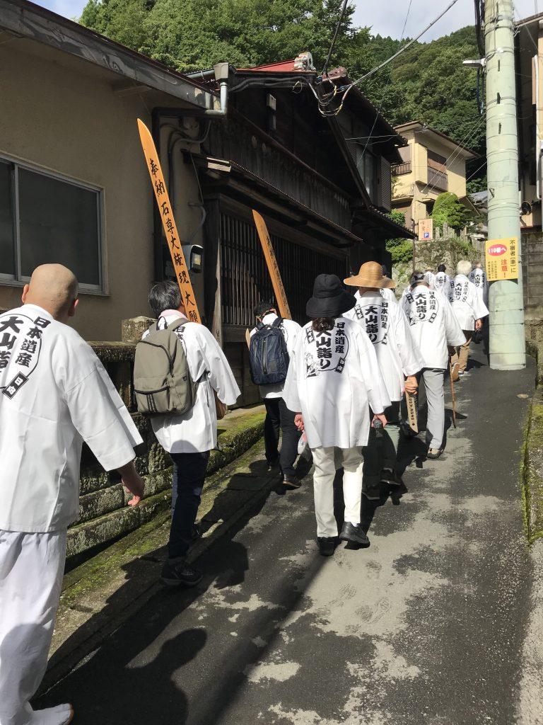 大山詣り行きとうふ坂