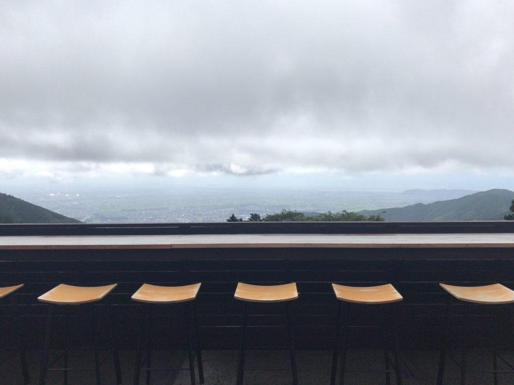 大山詣り茶寮石尊からの景色