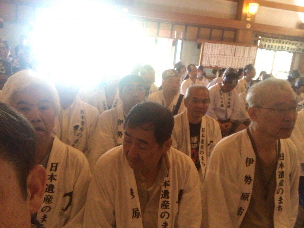 大山詣り参拝2