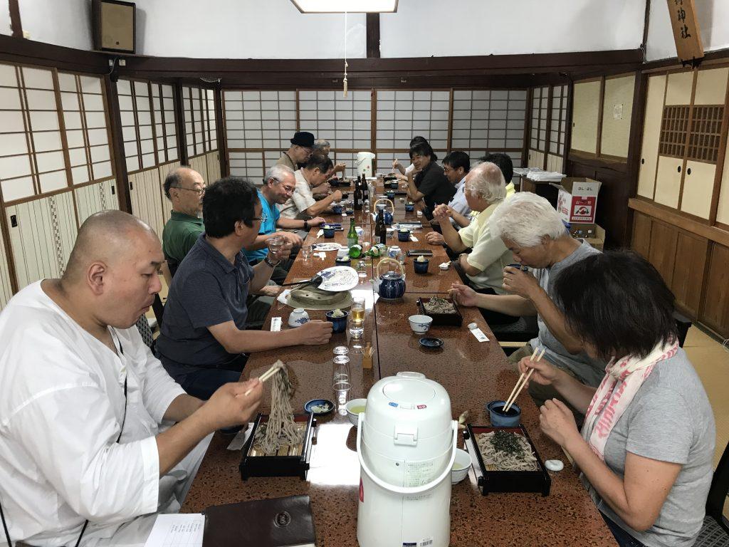 大山詣り古宮旅館で〆の蕎麦